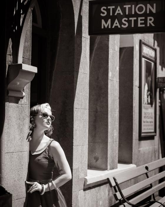 Vintage location portrait photography workshop for the MPA