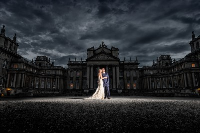 Blenheim Palace is a spectacular backdrop for a wedding - day or night!